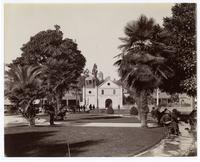 The Plaza and Mission [Nuestra Senora Reina de Los Angeles]
