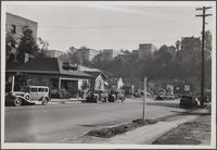 Looking northeast from Figueroa Street