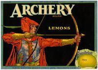 Archery Brand lemons, North Whittier Heights Citrus Ass'n., Hillgrove