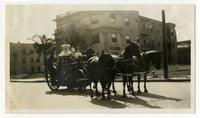 Horse drawn fire engine, Los Angeles