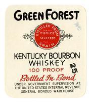 Green Forest Kentucky bourbon whiskey