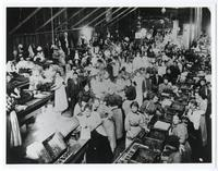 Women in fig-packing house, circa 1910-1920