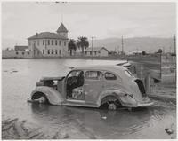 Flood damage in Alviso, San Jose, Santa Clara County