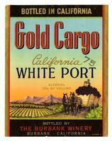 Gold Cargo California white port, The Burbank Winery, Burbank
