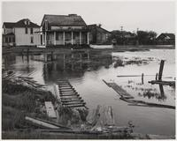 Flood damage in Alviso, San Jose, Santa Clara County