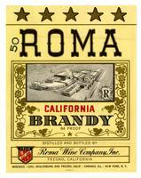 Roma California brandy, Roma Wine Company, Inc., Fresno
