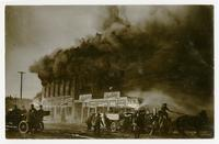 Engine Co. No. 27 fighting fire, Los Angeles