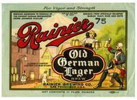 Rainier Old German lager, Rainier Brewing Co., San Francisco