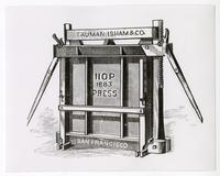 Truman Isham & Co. Hop Press Illustration, c. 1880