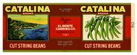 Catalina Brand cut string beans, El Monte Canning Co., El Monte