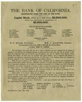 Bank of California: incorporated under the laws of the State.