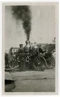 Steam pump fire engine, Los Angeles