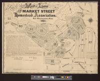 Map of land of the Market Street Homestead Association