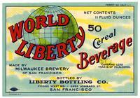 World Liberty cereal beverage, Milwaukee Brewery of San Francisco