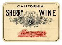 California sherry wine, Brannagan's Pharmacy, San Francisco