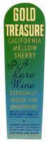 Gold Treasure California mellow sherry, Elk Grove Winery, Elk Grove