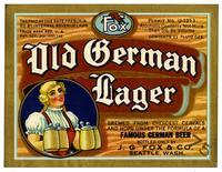Fox Old German lager, J.G. Fox and Co., Seattle, Wash.