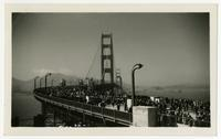 Golden Gate Bridge opening celebration, Pedestrian Day, May 27, 1937