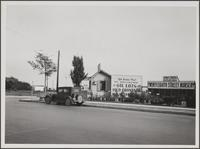 Real estate office and nursery, corner of Pico Boulevard and 28th Street