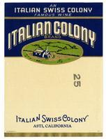 Italian Colony Brand, Italian Swiss Colony, Asti