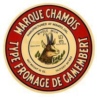 Marque Chamois type fromage de Camembert, Novato