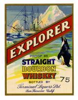 Explorer straight bourbon whiskey, Terminal Liquors, San Francisco