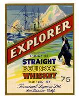 Explorer straight bourbon whiskey, Terminal Liquors, San Francisco