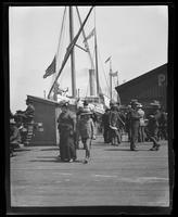 Steamship docked at pier, San Francisco Bay
