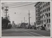 West 6th Street, looking west from Coronado Street