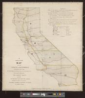 Skeleton map of the State of California