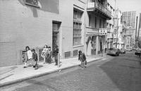 Children getting out of school, Chinatown