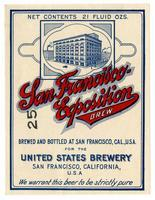 San Francisco Exposition brew, United States Brewery, San Francisco
