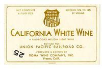 Union Pacific California white wine, Roma Wine Company, Inc., Fresno