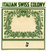 Blank label, Italian Swiss Colony