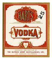 Hart's vodka, The Alfred Hart Distilleries, Los Angeles
