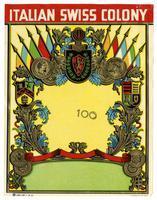 Blank label, Italian Swiss Colony
