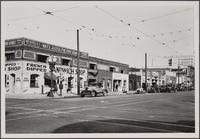 Grand Avenue, Adams Boulevard and Alameda Street, looking northwest on Grand Avenue from 10th Street...
