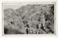 View of a hillside ranch