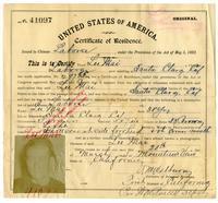 Certificate of residence for Lu Mai, farmer, age 38 years, of Santa Clara, California