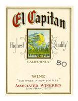 El Capitan California wine, Associated Wineries, San Francisco