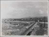Looking east from river bluff on 1st Street, Montebello Boulevard toward Pico Boulevard