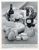 Wine and cheese advertisement