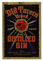 Old Tavern Brand dry distilled gin, Universal Distillers, Los Angeles