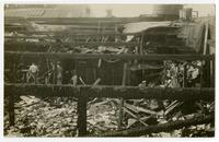 Destruction from fire, building exterior, Los Angeles