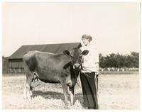 Woman and cow