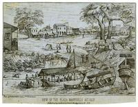 View of the plaza of Marysville, Alt. Calif.
