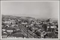 Looking north over Sonora town from end of North Hill Street