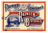 Rainier beverage, Rainier Brewing Co., San Francisco
