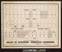 Map of the property of the Geary St. Extension Homestead Association