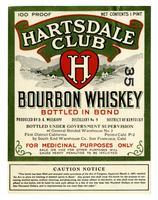 Hartsdale Club bourbon whiskey, South End Warehouse Co., San Francisco